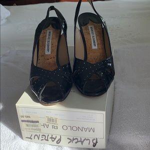 Manolo Blahnik black patent heels